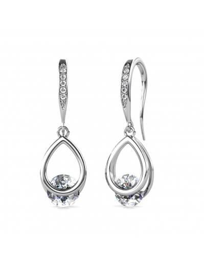 Boucles d'oreilles Tristin Hook - Argenté et Cristal