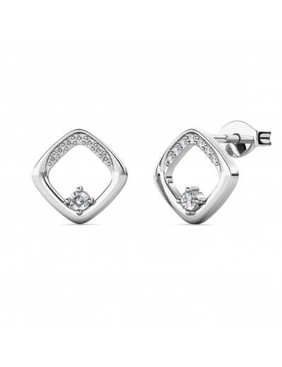 Adelise Earrings - Silver and Crystal