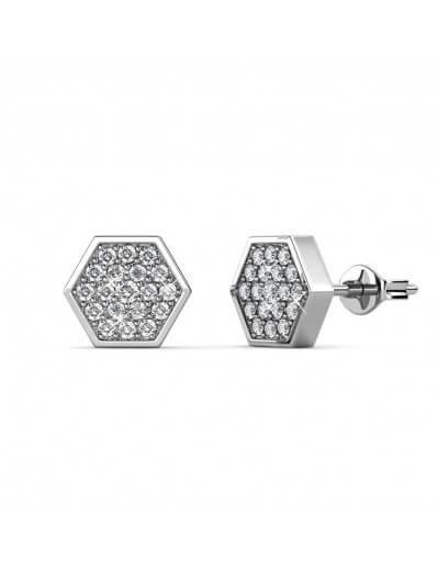Boucles d'oreilles Hexagon...