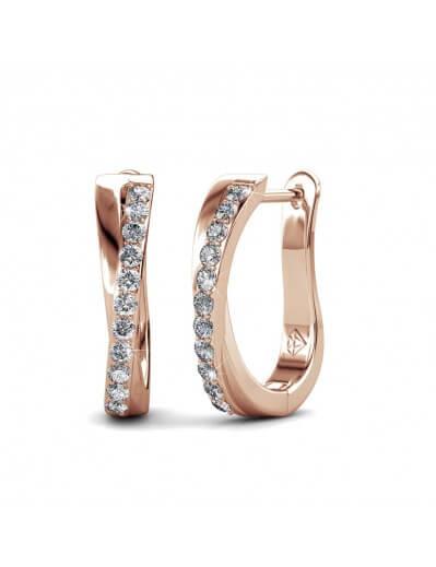Criss Earrings - Rose Gold...