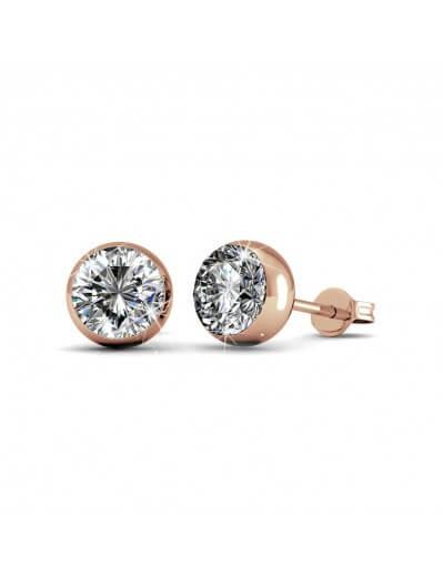 Moon Earrings - Rose Gold...