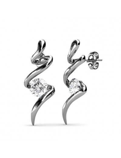 Boucles d'oreilles Spiral -...