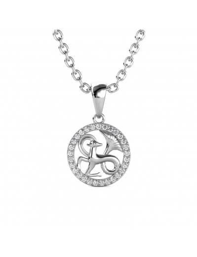 Capricorn Zodiac Pendant -...