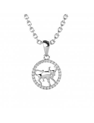 Taurus Zodiac Pendant -...