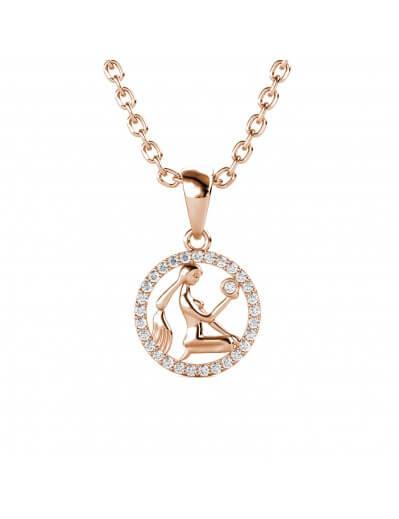Virgo Zodiac Pendant - Rose...
