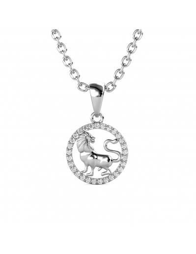 Leo Zodiac Pendant - Silver...