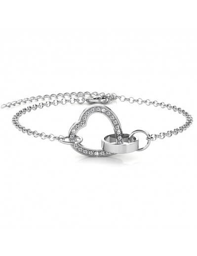 Bracelet Locked Heart -...
