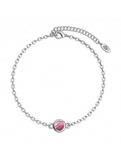 Bracelet Birth Stone  - Argenté et Rose