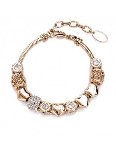 Radiant Charm Bracelet - Rose Gold and Crystal