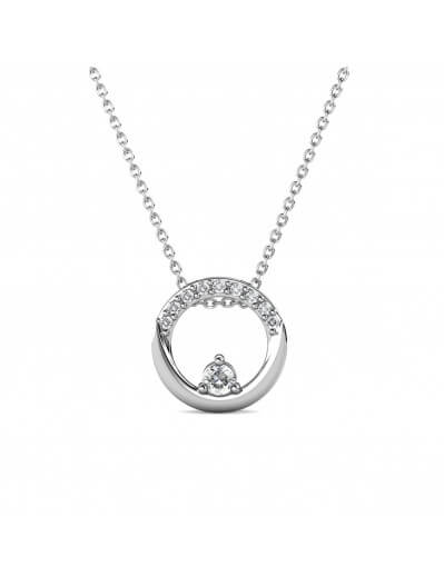Clarine Pendants - Silver and Crystal