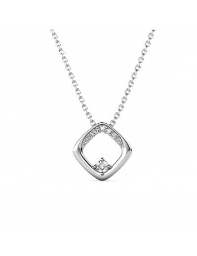 Adelise Pendant - Silver and Crystal