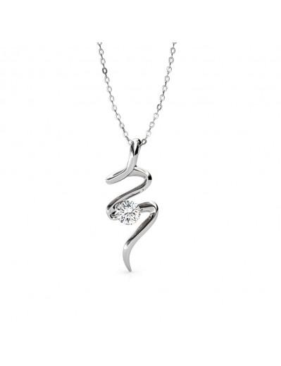 Spiral Necklace - Silver...