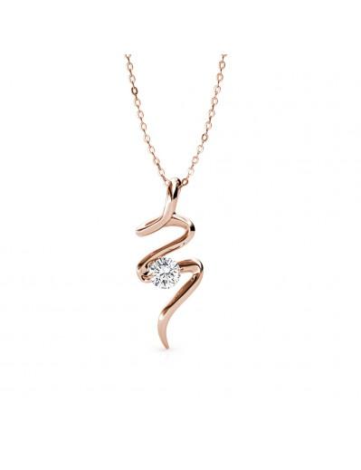 Spiral Necklace - Rose Gold...