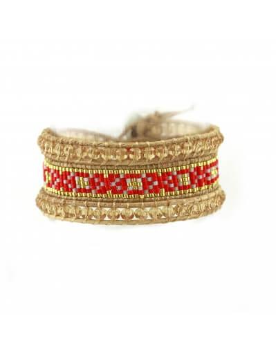 Edyna Ethnic Bracelets - Red
