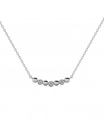 Evelyne Necklace - Silver...
