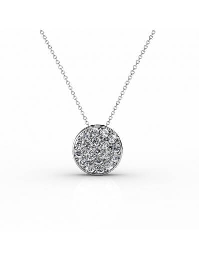 Round Pendants - Silver and...