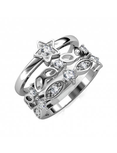 Solar Ring - Silver and...
