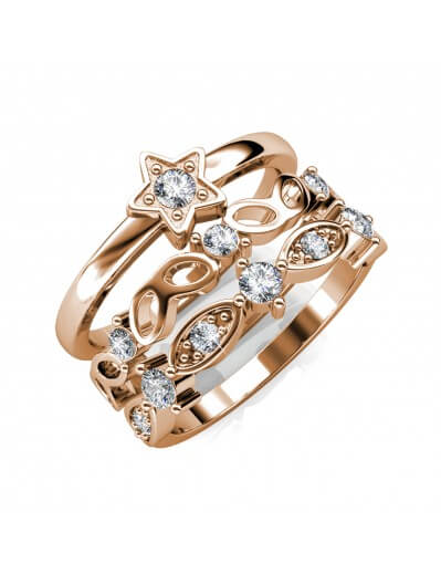 Solar Ring - Rose Gold and...