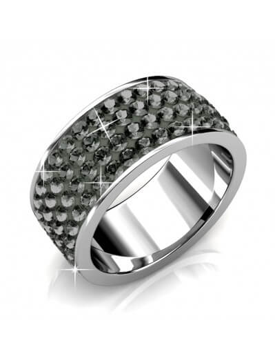 Roller Ring - Silver and Grey