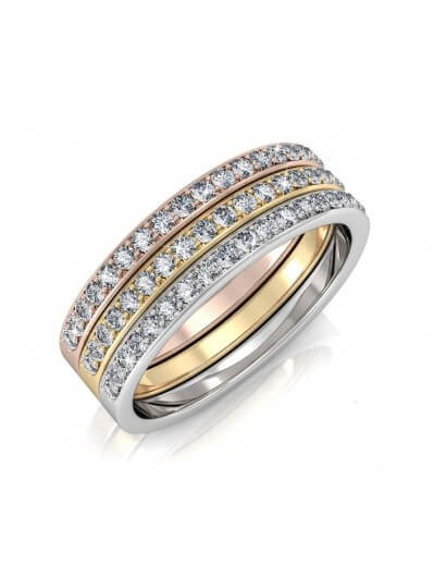 Trinity Ring - Silver and...