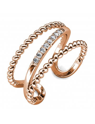 Irving Ring - Rose Gold and...