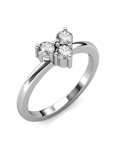 Troika Ring - Silver and...
