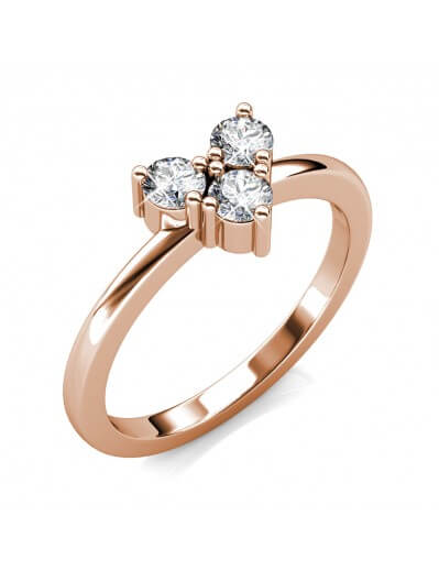 Troika Ring - Rose Gold and...