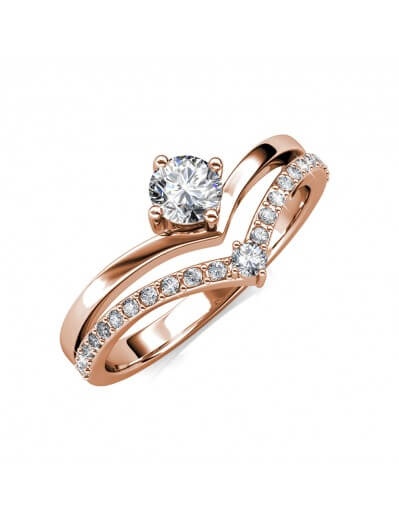 Zinnia Ring - Rose Gold and...