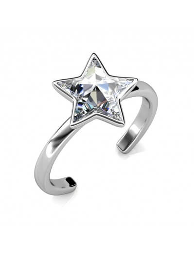 Star Ring - Silver and Crystal