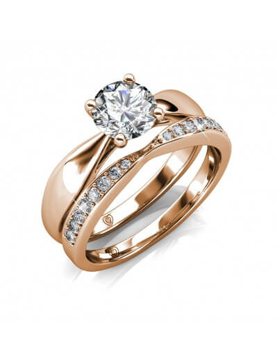 Prestige Ring - Rose Gold and Crystal