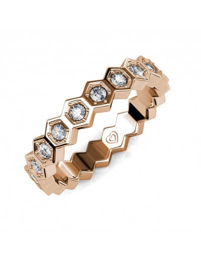 Irene Ring - Rose Gold and...