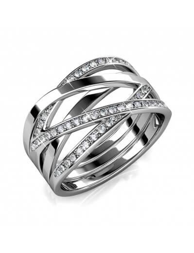 Criss Cross Ring - Silver...