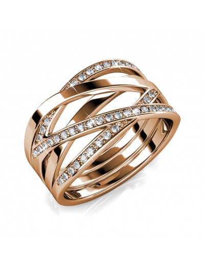 Criss Cross Ring - Rose...