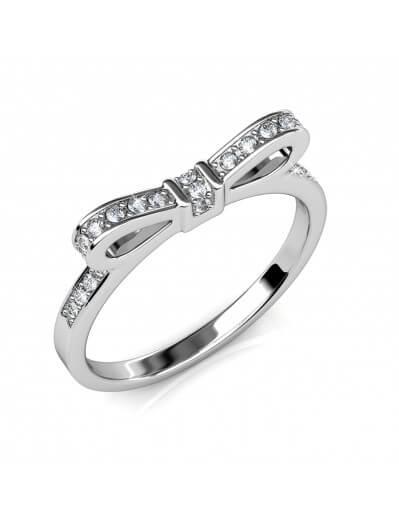 Ribbon Ring - Silver and...