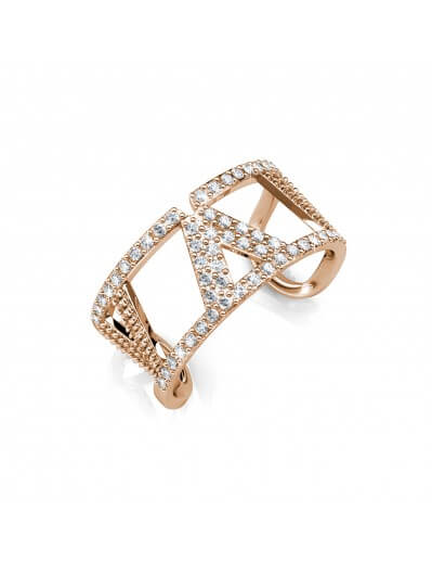 Veronica Ring - Rose Gold and Crystal