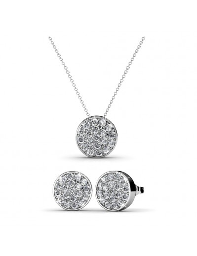 Round Set - Silver and Crystal