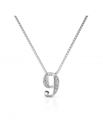 Number 9 Pendants - Silver...