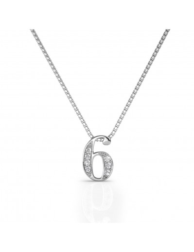 Number 6 Pendants - Silver...