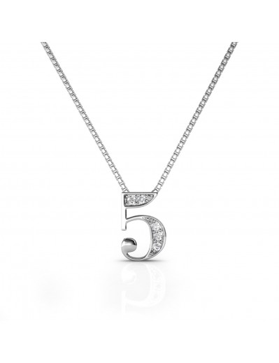 Number 5 Pendants - Silver...