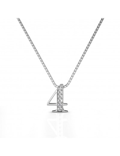 Number 4 Pendants - Silver...