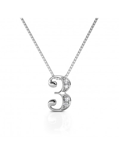 Number 3 Pendants - Silver...