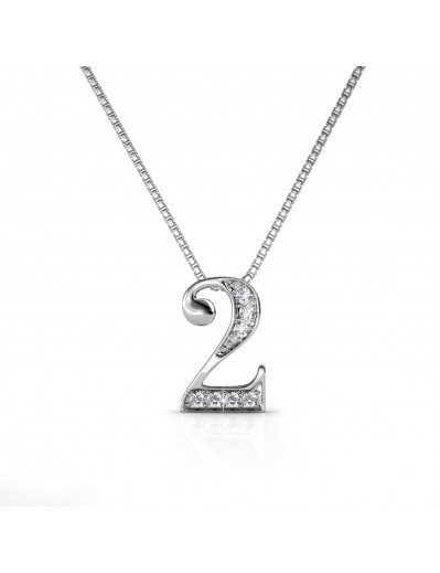 Number 2 Pendants - Silver...