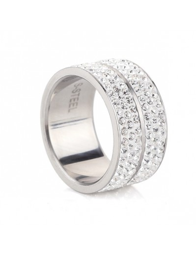 Elyna Ring - Silver and Crystal
