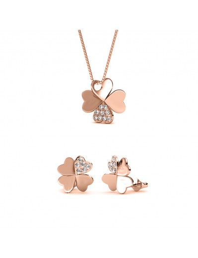 Clover Set - Rose Gold and...