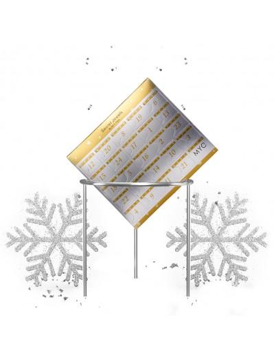 Calendrier de l'avent 24 bijoux surprises Advent Calendar - Silver and Crystal or white