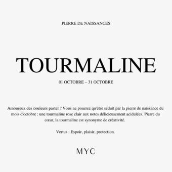 💕 C'est le mois de la Tourmaline.  #mycparis #tourmaline #birthdaystonees #luckycharms